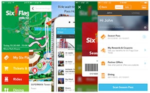 Six Flags Mobile Application