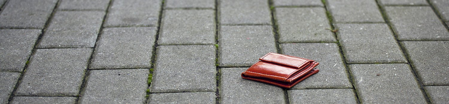 Wallet left on the road