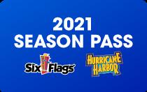 Hurricane Harbor and Six Flags Season Pass Card