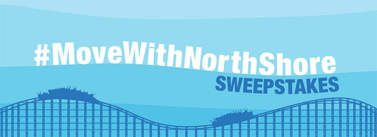 Blue banner reading #movewithnorthshore
