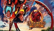 El Diablo looping coaster with logo