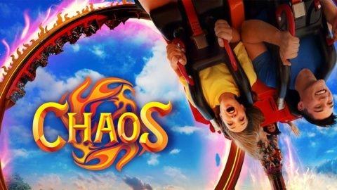Guests riding Chaos at La Ronde