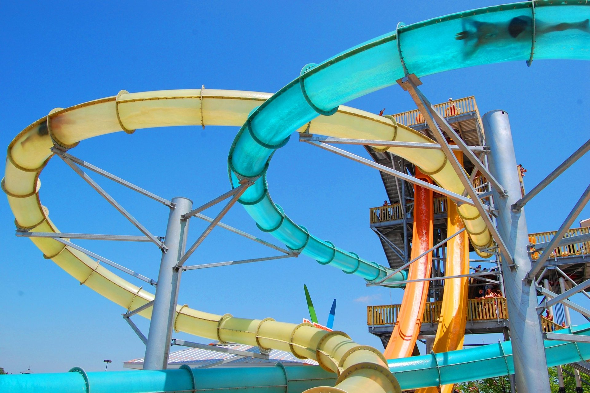 HHCH Blue and Yellow Waterslide