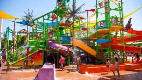 view of splash island at the park