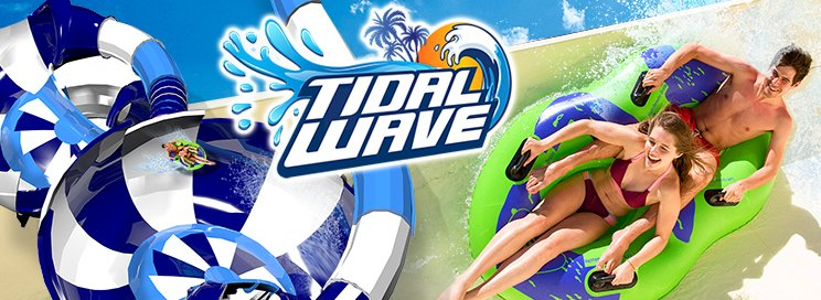 Riders in tube on Tidal Wave