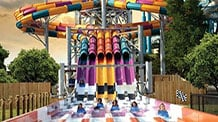 view of guests riding wahoo racer